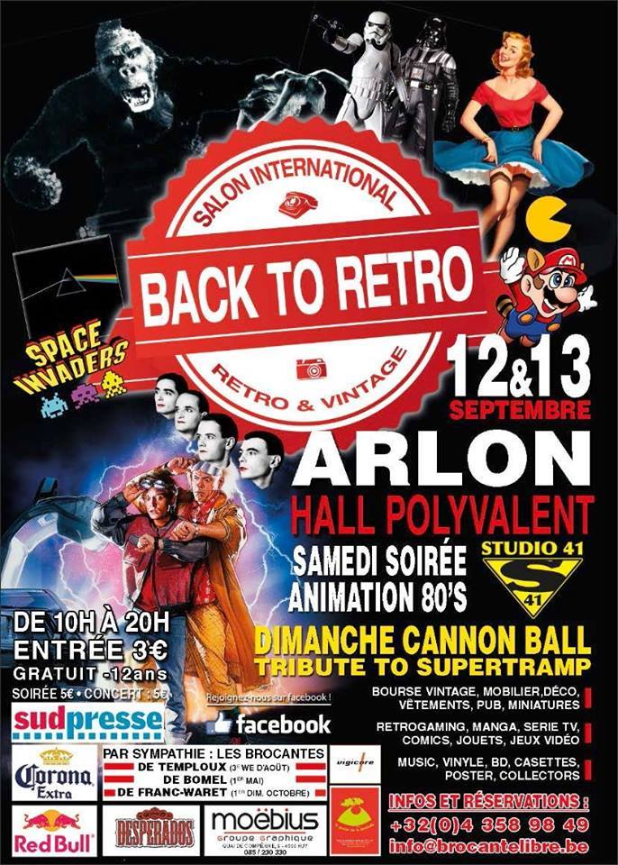 Nous serons au Back to Retro Arlon